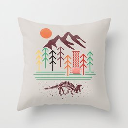 The Land That Time Forgot animal t shirt, animal print t shirt, wildlife t shirt Throw Pillow
