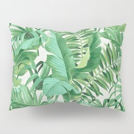 Green tropical leaves III Pillow Sham