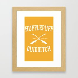 Hogwarts Quidditch Team: Hufflepuff Framed Art Print