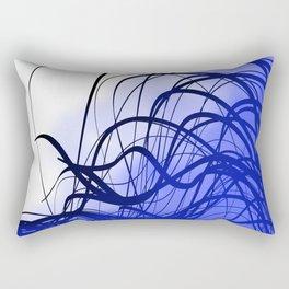 Blue Movement Rectangular Pillow