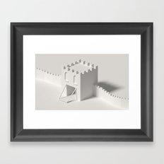 city gate Framed Art Print