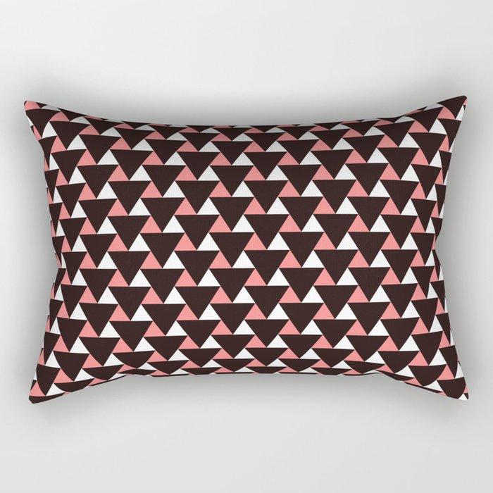 Geometric Triangles Pattern Rectangular Pillow