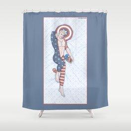 Steve Pinup Shower Curtain
