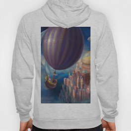 Marvelous Spectacular Fantasy Castle Hot Air Balloon Air Ship 1001 Nights Dreamland Ultra HD Hoody