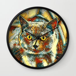 AnimalArt_Cat_20170901_by_JAMColorsSpecial Wall Clock
