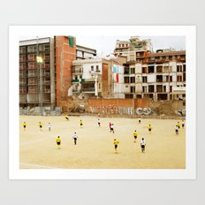 Barcelona Football Art Print