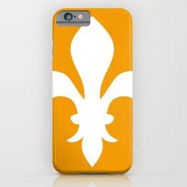 Fleur de Lis (White & Orange) iPhone Case