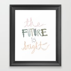 The future is... Framed Art Print