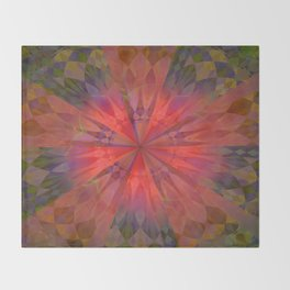 Light burst Throw Blanket