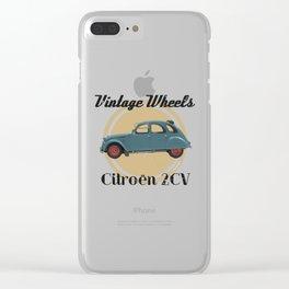 Vintage Wheels: Citroën 2CV Clear iPhone Case