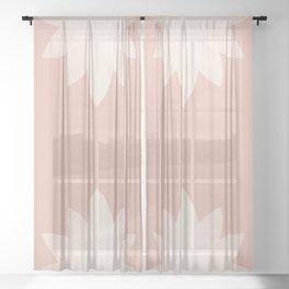 Minimal Lotus Flower XVI Sheer Curtain