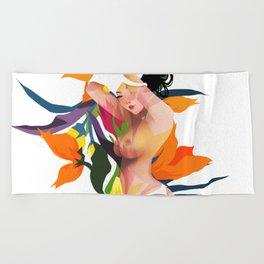 flower girl Beach Towel