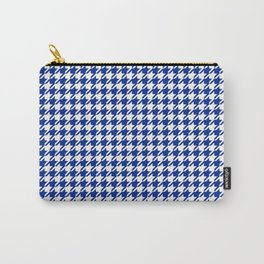 Houndstooth Classic Blue Carry-All Pouch