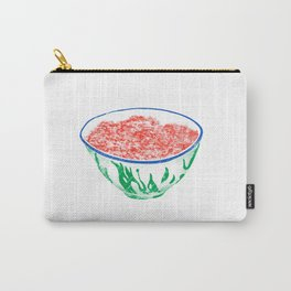 Illustration of a bowl of fresh minced meat Carry-All Pouch