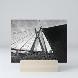Sao Paulo bridge Mini Art Print