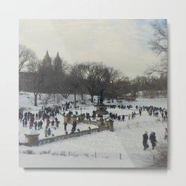 Central Park Winter Scene Metal Print