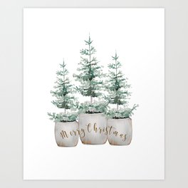 Tree farm Art Print