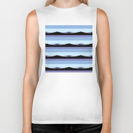 Abstract mountains horizons 2 Biker Tank