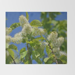 Mayday Tree in Bloom Throw Blanket