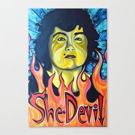 Roseanne Barr, She-Devil Canvas Print