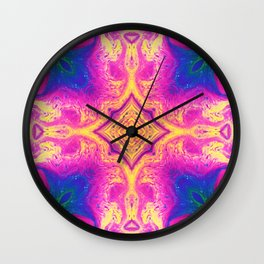 Psychedelic Three Wall Clock