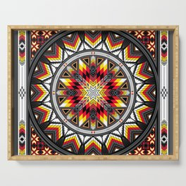 Sacred Places Red Serving Tray