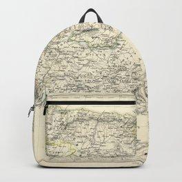Vintage Map - Spruner-Menke Handatlas (1880) - 18 Church Divisions of Spain Backpack