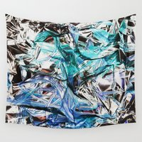 metallic Wall Tapestries featuring Metallic by Lara Gurney