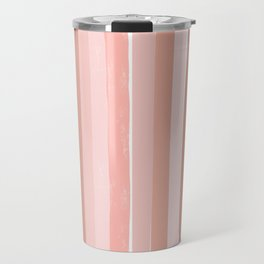 Striped minimal abstract painting modern color pinks metallics decor and art Travel Mug