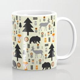 Winter bears, foxes and deer Coffee Mug