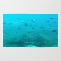 underwater Area & Throw Rugs featuring Underwater by Shereen Yap