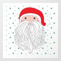 santa Art Prints featuring Santa by Doucette Designs