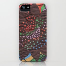 Colorful background with flower iPhone Case
