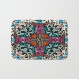 Street Art Kaleidoscope Bath Mat