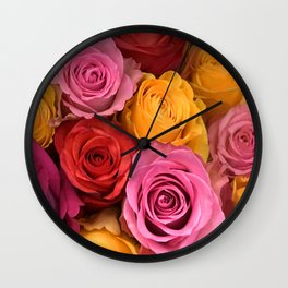 ALL Colors Are Beautiful - With Roses AND People! Wall Clock