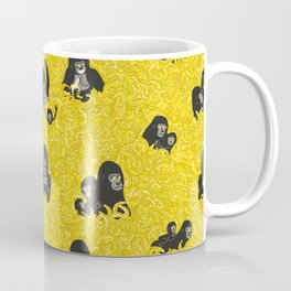 Gorillas and bananas by unPATO Coffee Mug