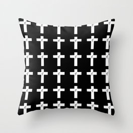 Christian Cross 34 with symbol of transgender Throw Pillow