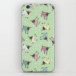 Pajama'd Baby Goats - Green iPhone Skin