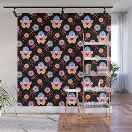 Cute happy winter baby penguins, retro vintage colorful lollipops, sweet candy nursery pattern Wall Mural