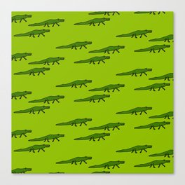Alligators-Green Canvas Print