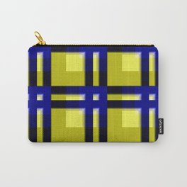 pattern blue jellow black 2 Carry-All Pouch