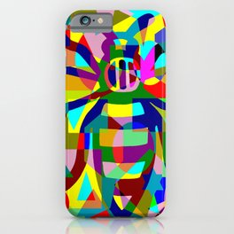 Mark Edz Abstract Manchester Worker Bee Multicoloured 2021 iPhone Case