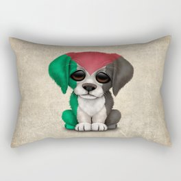 Cute Puppy Dog with flag of Palestine Rectangular Pillow
