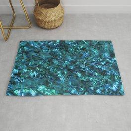 Abalone Shell | Paua Shell | Sea Shells | Patterns in Nature | Cyan Blue Tint | Rug