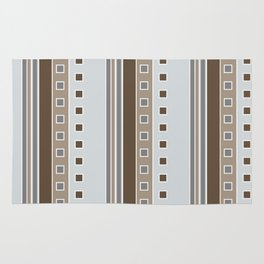 Squares and Stripes in Gray and Browns Rug