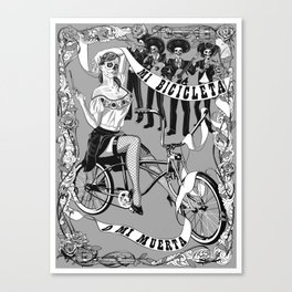 My Bicycle or My Death Canvas Print