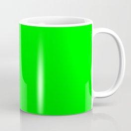 Neon Green Simple Solid Color All Over Print Coffee Mug