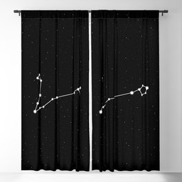 Pisces Star Sign Night Sky Blackout Curtain