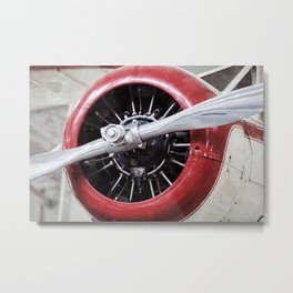 Airplane, Propeller Metal Print