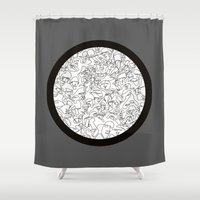 mirror Shower Curtains featuring Mirror by 5wingerone